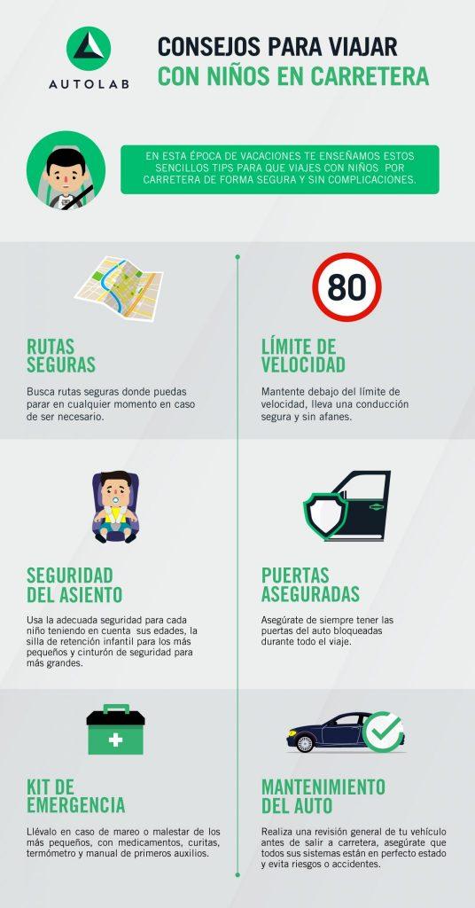 Consejos para viajar con niños en carretera