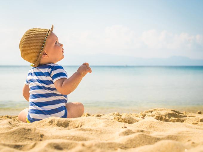 Viaja con tu bebé a la playa